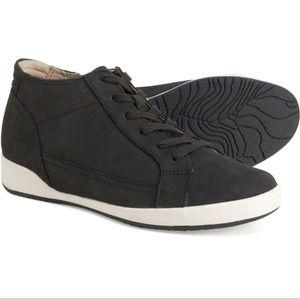 Dansko Onyx Black Milled Leather Sneakers
